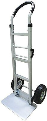 Aluminum Folding Hand Truckdolly Extra Large Nose Plate With 10 Rubber Tires