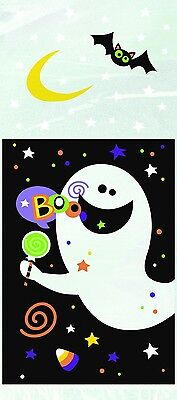 20 HALLOWEEN Ghost cellophane Treat Bags CELLO Party bags trick or treat