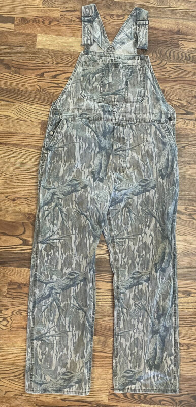 VTG Mossy Oak Camo Overalls Men's Large Made In USA