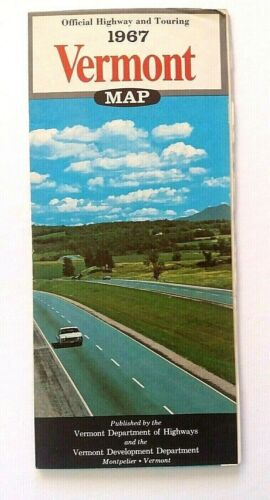 VINTAGE 1967 VERMONT OFFICIAL ROAD MAP