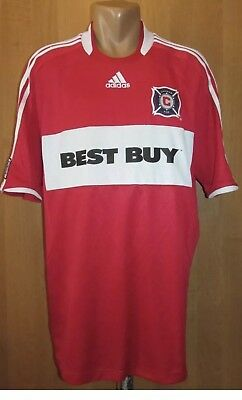 CHICAGO FIRE 2008/2009 HOME FOOTBALL SHIRT JERSEY CAMISETA USA SOCCER MLS ADIDAS image