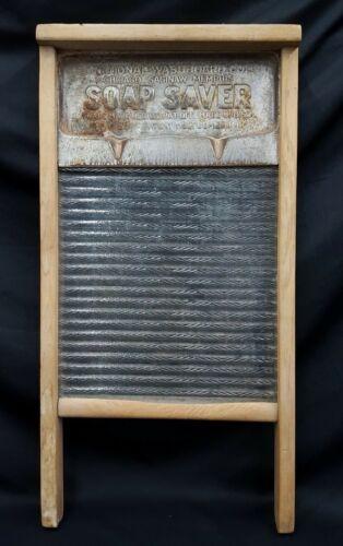 Vintage National Washboard Company Soap Saver  #160 Clothes Washing Board