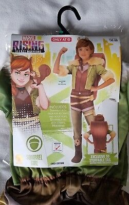 NEW Marvel Rising Squirrel Girl Costume Child Medium 8-10 for 5-7 years with Wig
