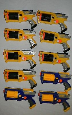 NERF N-STRIKE Maverick REV-6 Dart Gun Lot of 10 Blaster Birthday Party Pack