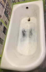 Old Cast Iron Bathtub Sinks Refinishing Bathroom Wall Tiles