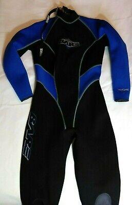 Nude Full Body Suit (Bare Womens Black/Blue Full Body Rush 3/2mm Wet suit Sz)