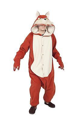 ADULT RED FOX COSTUME FOREST ZOO ANIMAL PAJAMAS FOXY WOLF MENS WOMENS FUNSIES