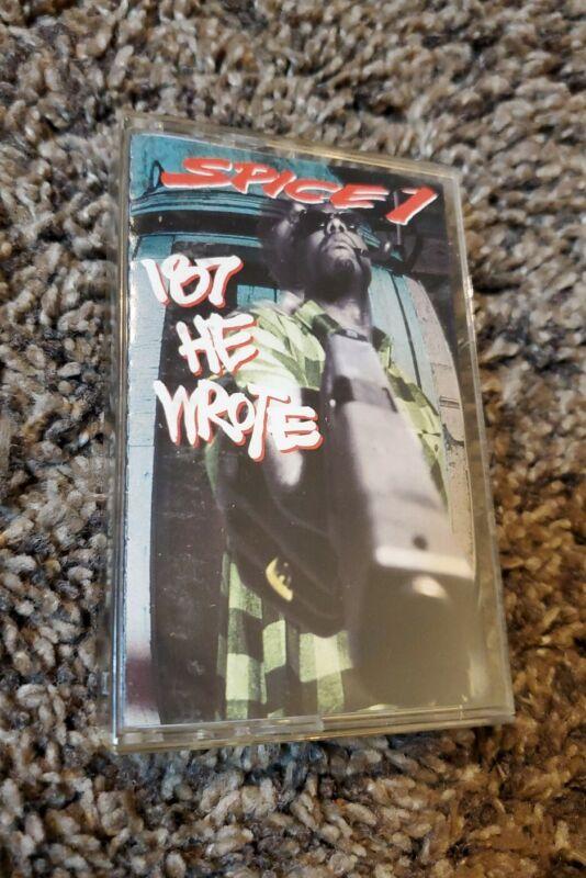 Spice 1 - 187 He Wrote - Original 1993 Cassette Tape MC Eiht