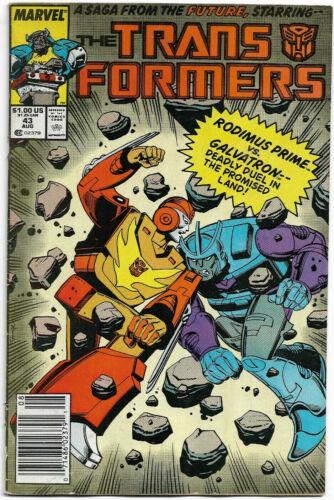 TRANSFORMERS#43 FN 1988  MARVEL COMICS