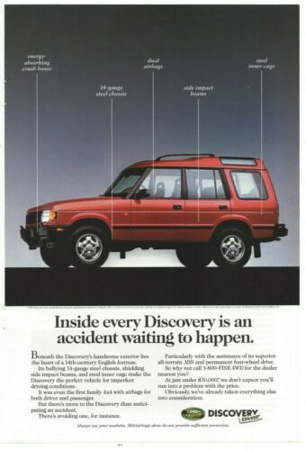 1995 Land Rover Discovery National Geographic Original Print Ad 4x4 SUV