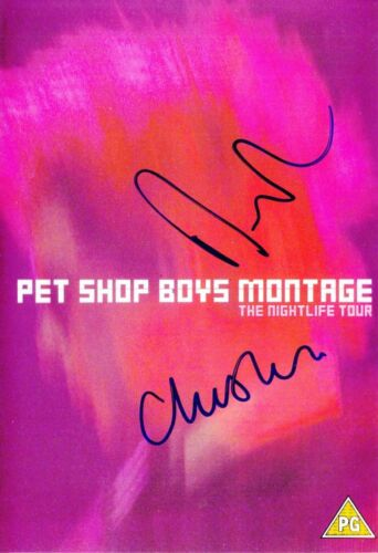 PET SHOP BOYS VERY RARE AMAZING IN PERSON SIGNED W/PROOF COA !!