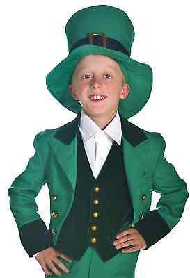 Child Leprechaun St Patricks Day Costume - Jacket, Vest, Hat Size S, M