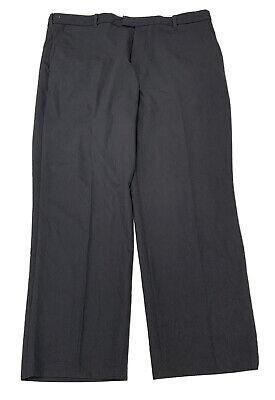 IZOD Mens Dress Pants Flat Straight Fit Gray Wicking 38x29 Polyester blend mens  Grey Polyester Mens Dress Pants
