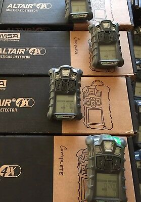 Msa Altair 4X Multigas Gas Monitor Detector  O2 H2s Co Lel Charger  Calibrated