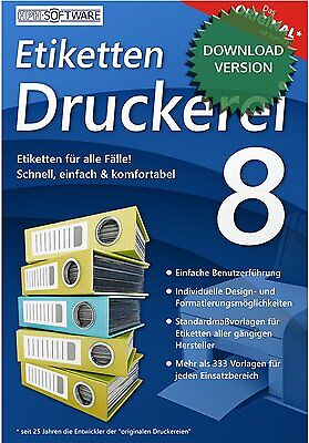 Etiketten-Druckerei 8 / kompatibel zu DATA BECKER / Download-Version