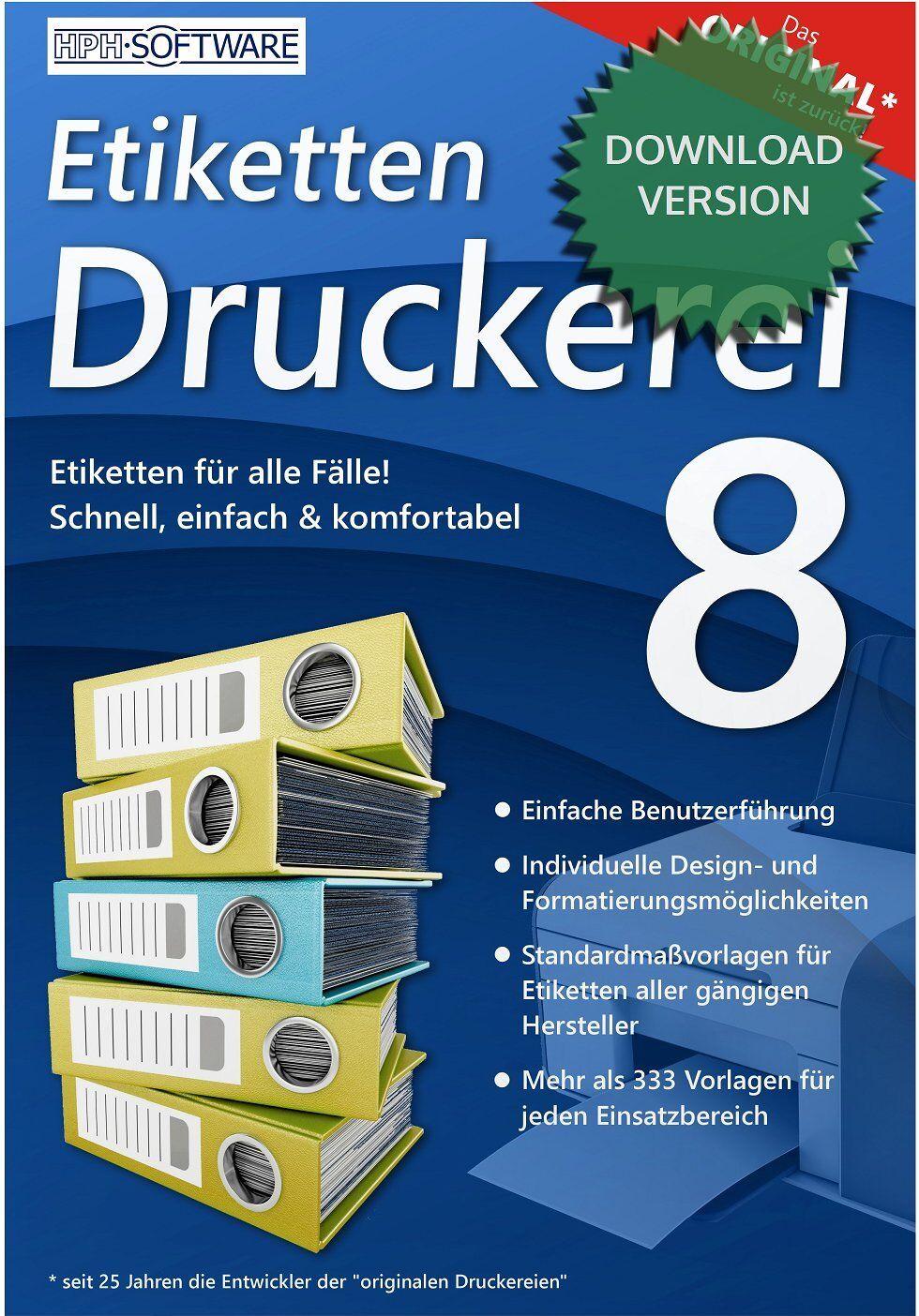 Etiketten-Druckerei 8 / kompatibel zu DATA BECKER / Download-Version