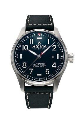 Alpina Men's AL-525NN4S6 Startimer Pilot Automatic Blue Dial Big Date 44mm Watch ()