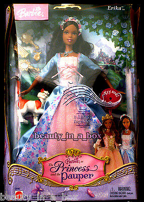 Erika Barbie Doll African American Princess and the Pauper AA