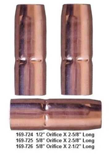 "2 Mig Welding Nozzles 169-726 5/8"" Flush Fit Miller M25/M40 Hobart Mig Gun"