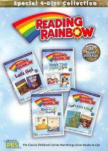 READING RAINBOW LOT OF 4 DVDs - 8 Episodes PBS kids BIRDS DESERT HOW'S LET'S NEW