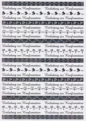 """Ursus-Transparentpapier-A4,,Bordüren""""Einladung zur Konfirmation-weiß/silb-766001"""