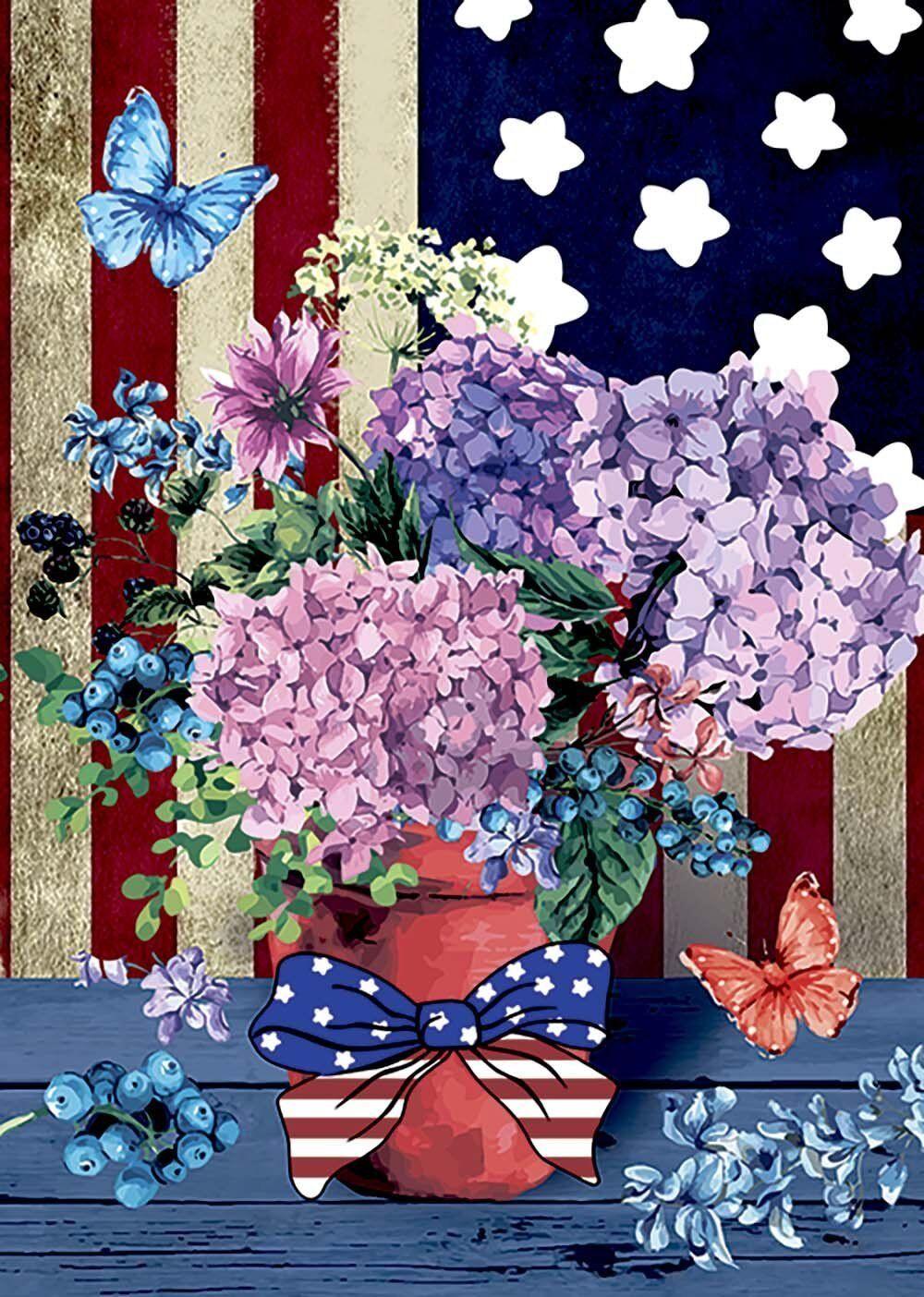 Morigins Patriotic Pansies Decorative Flower America Summer