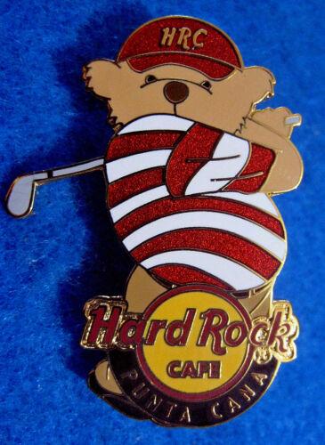 PUNTA CANA DR SPORTS BEAR SERIES HRC GOLF PROFESSIONAL Hard Rock Cafe PIN LE