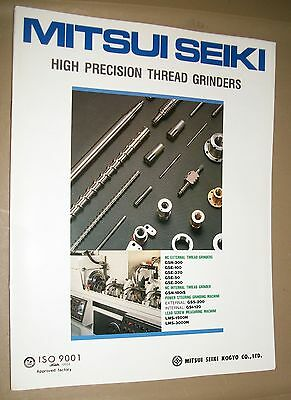 Mitsui Seiki High Precision Thread Grinders Specification