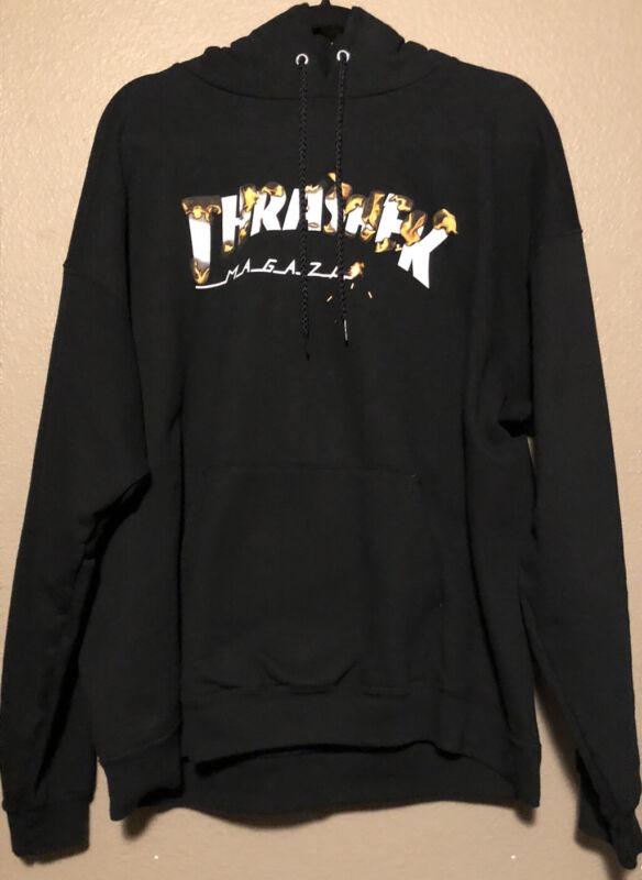 Thrasher 'Intro Burner' Hoodie - BLACK SIZE L