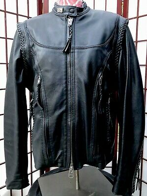 Harley Davidson Willie G Leather Jacket & Vest 2 in 1 Womens Sz XS USA Made