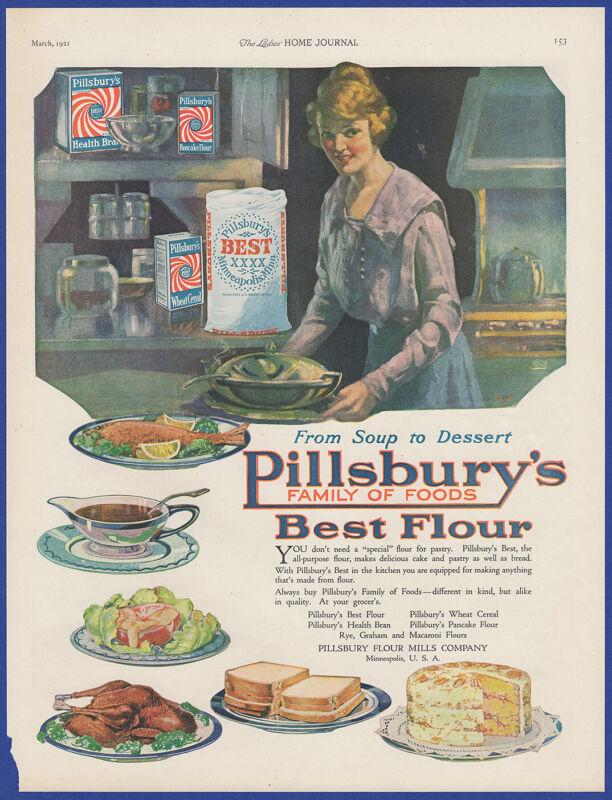 Vintage 1921 PILLSBURY