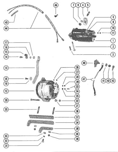 52818 Bracket, Alternator Mounting Mercruiser 120 Gm 153 I