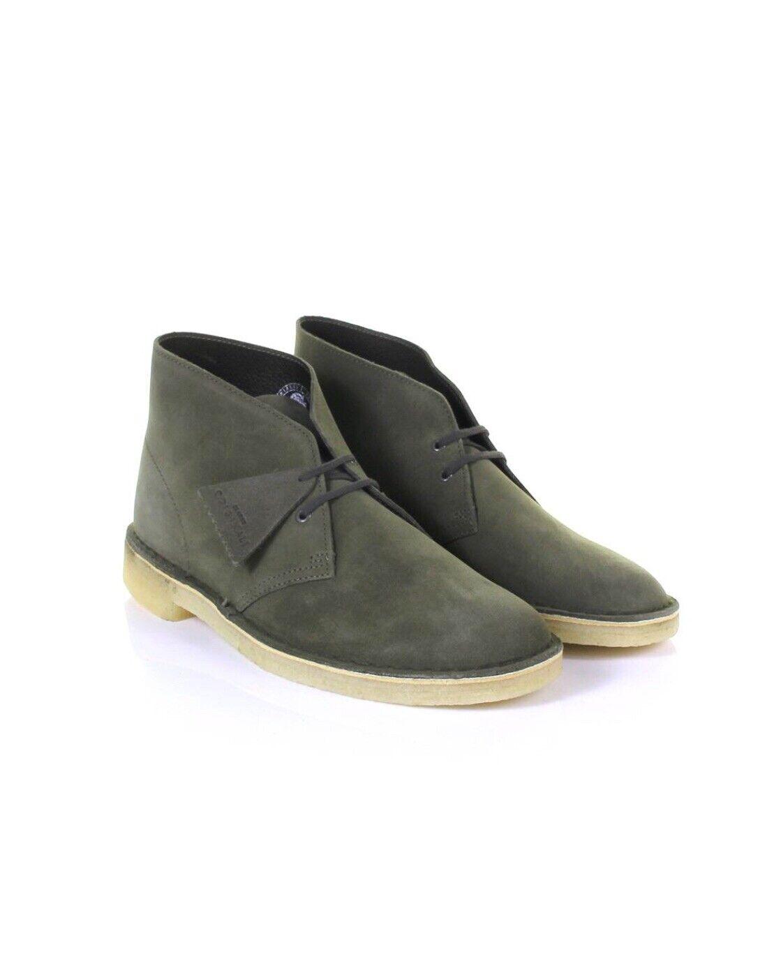 Clarks Originals Desert Boots Olive Suede Men's Sizes. 26138234