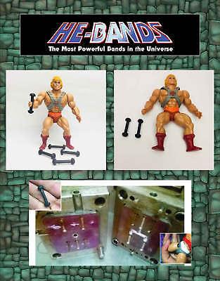 5 x HE-BANDS He-Man MOTU Masters Universe Figure Repair Rubber Leg Connectors