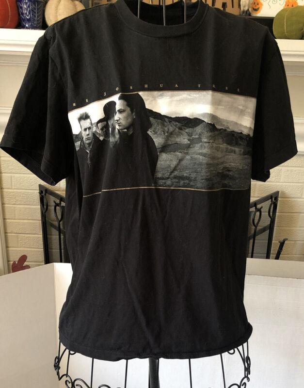 U2 Concert Tshirt Black The Joshua Tree 2017 Tour Landover, MD Women's Medium