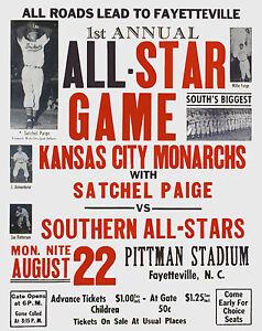 KANSAS CITY MONARCHS 8X10 PHOTO BASEBALL KC A/STAR POSTER PICTURE SATCHEL PAIGE