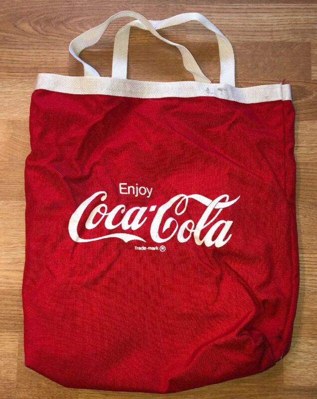 """Coca Cola Tote Bag for Beach or Everyday Use Red & White 15""""x16"""" vintage COKE"""