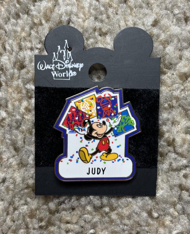 Mickey Mouse Walt Disney World Four Park Celebration JUDY Name Disney Pin