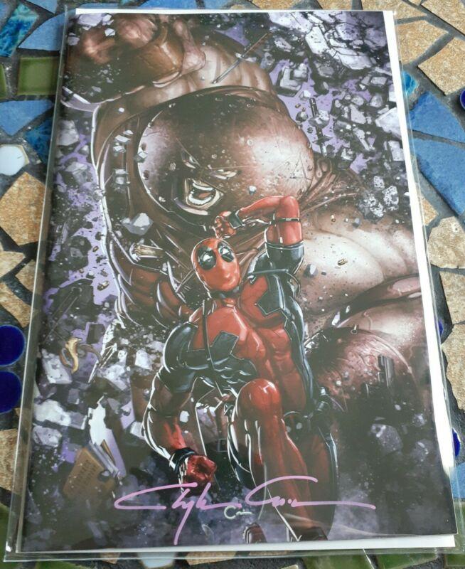 Deadpool Nerdy 30 Clayton Crain Signed Virgin Variant!