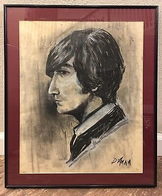 John White Drawings - JOHN LENNON 17x20