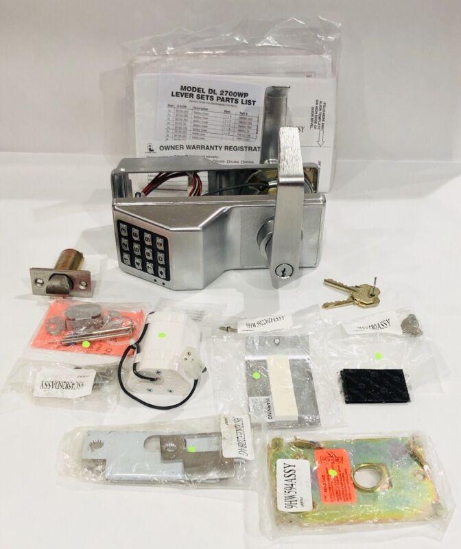 Alarm Lock Trilogy T2 Weatherproof Electronic Digital Keypad Lock Satin Chrome
