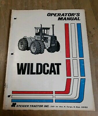 Steiger Wildcat Tractor Operators Owners Manual Original 37-046 1j-2327-x9