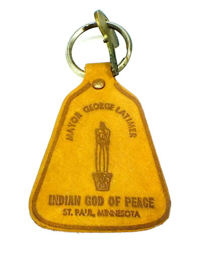 Vintage MAYOR GEORGE LATIMER Political GOD OF PEACE Keychain MINNESOTA
