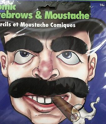 Comic Eyebrows & Moustache costume accessory dress up (Costume Eyebrows)
