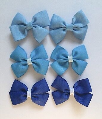 SALE!! 3 Pairs (6 Packs)Of BlueHair Clips/girls Accessories