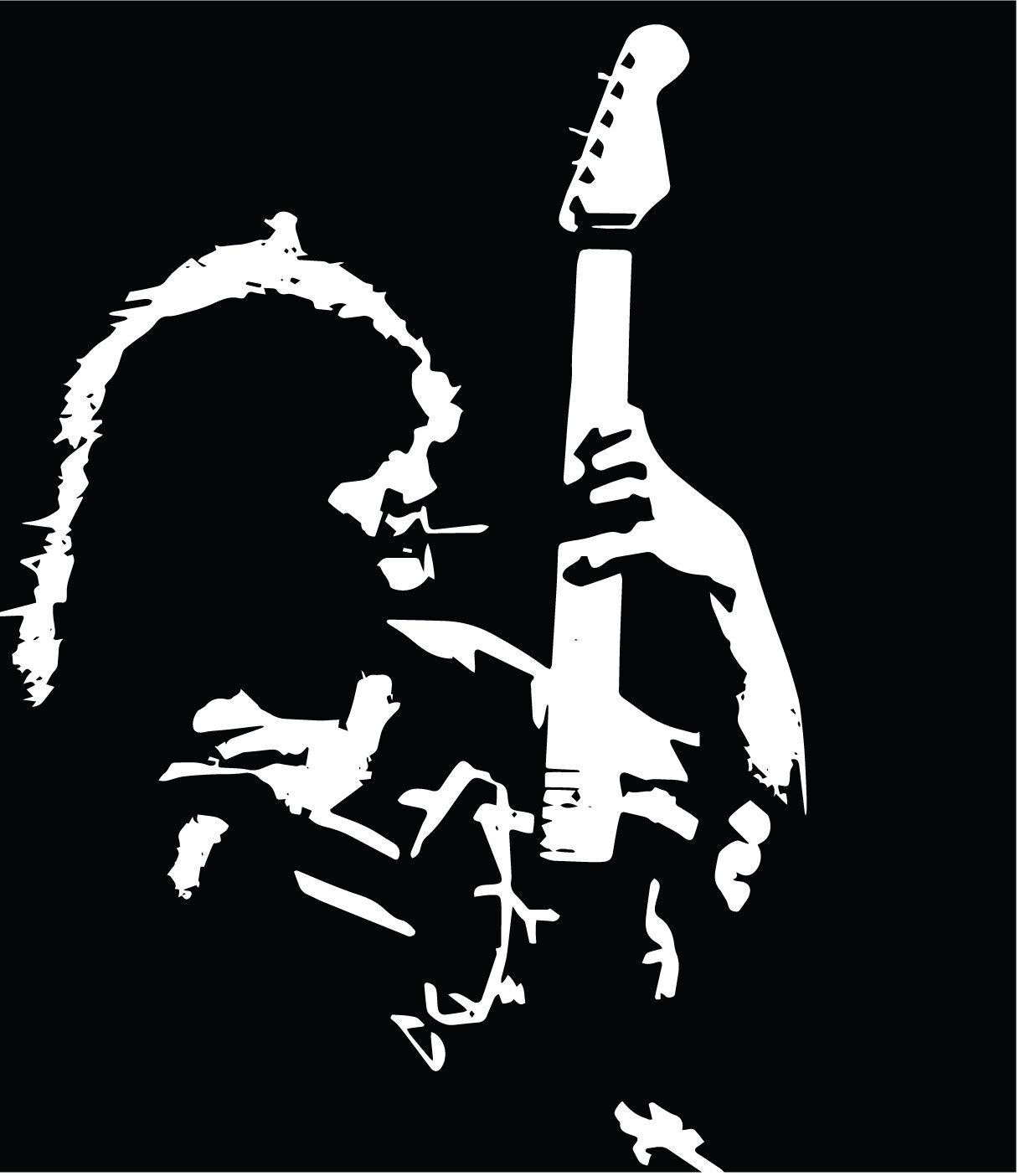 Home Decoration - Eddie Van Halen #1 VINYL DECAL Guitar, 70' 80's 90's, hard rock, bumper sticker