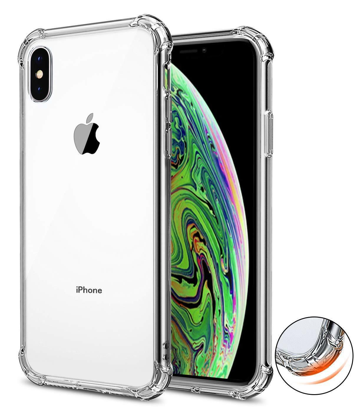 huge selection of 34afd 41a06 Details about For iPhone XS Max XR Clear Transparent Shockproof TPU Bumper  Case Cover