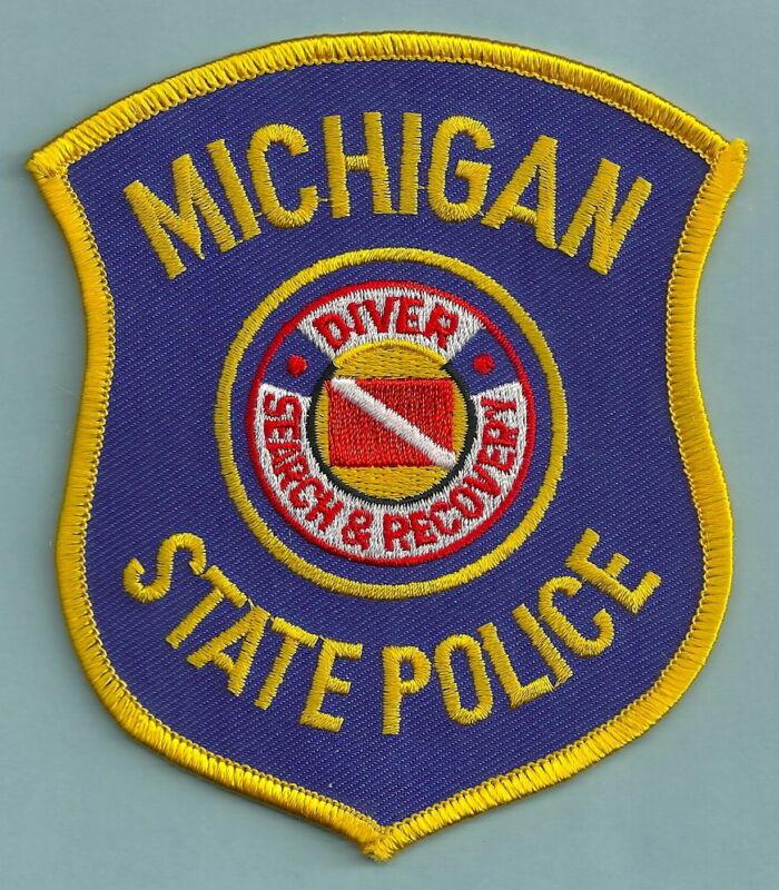 MICHIGAN STATE PATROL POLICE DIVE RESCUE TEAM SHOULDER PATCH