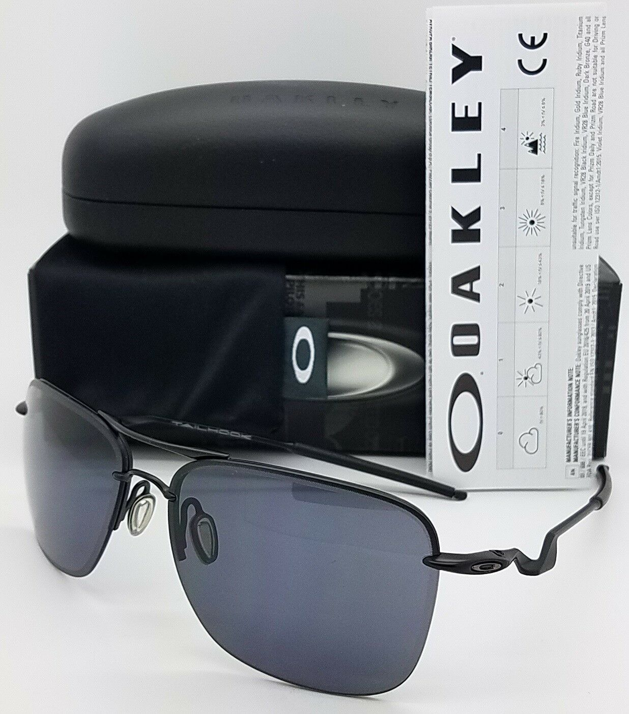 Oakley Black Sunglasses OO 4087 01 60 mm TailHook Sport Sati