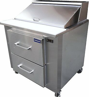 Coolman Commercial Refrigerated Sandwich Prep Table 36 With Two Drawers
